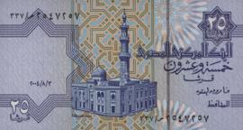 Egypte P57 B323i 25 Piastres 2004-'06