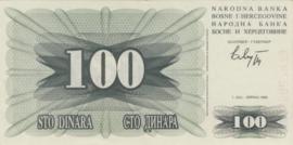 Bosnië-Herzegovina P13 100 Dinara 1992