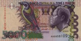 St. Tomas and Principé P65.a 5.000 Dobras 1996-2013