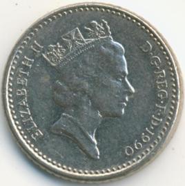 Engeland 5 Pence 1990 KM#937b