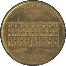 Italië KM135 200 LIRE 1990R