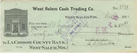 Wisconsin, West Salem Cash Trading Co. West Salem, 1914
