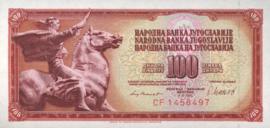 Joegoslavië P90.b 100 Dinara 1981