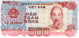 Viet Nam P101.b 500 Dông 1988