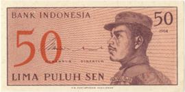 Republiek Indonesië B547 P94 H285: 50 Sen 1964 UNC