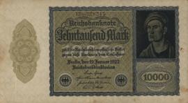 Duitsland Ros.069d: G 10.000 Mark 1922 DEU78c: G