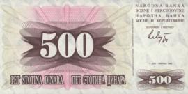Bosnië-Herzegovina  P014a 500 Dinara 1992-07-01