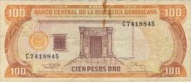 Domincaanse Republiek P136 100 Pesos Oro 1988 Fraai
