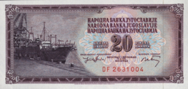 Joegoslavië P85 20 Dinara 1974