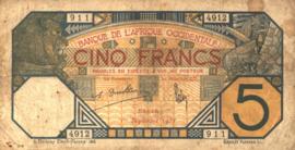 Frans West Afrika - L'Afrique Occidentale P5B.f 5 Francs 1918-1932
