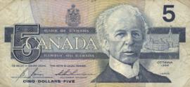 Canada P95.c1 5 Dollars 1986