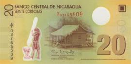 Nicaragua P202 20 Córdobas 2007 B498a
