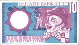 10 GULDEN imitatie-bankbiljet, schoolgeld.
