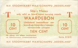 PL1605.2a 10 Cent 1949 N.V. Stoomvaart Maatschappij Nederland. Zonder scheepsnaam