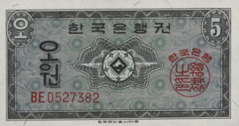 Korea (Zuid)  5 Won 1962 P31