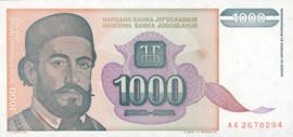 Joegoslavië P140 1.000 Dinara 1994 (No date)
