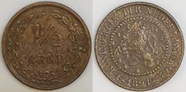 Nederland Sch.999 1/2 Cent 1891