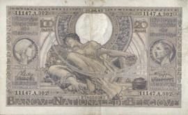 België P107.4 100 Francs / 20 Belgas Model 1933