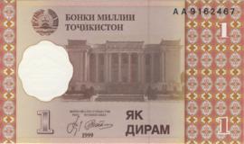 Tadzjikistan P10.a 1 Diram 1999