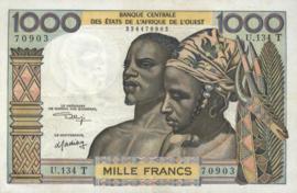 Togo P803T.k 1.000 Francs 1959-1980 (No date)