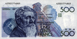 België P143.a 500 Francs 1982 (No date)