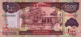 Somaliland P20.c 1.000 Shillings 2011-2015