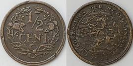 Nederland Sch.1013 1/2  Cent 1921