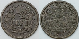 Nederland Sch.1010 1/2 Cent 1915