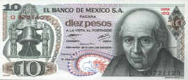 Mexico P63 10 Pesos 1977