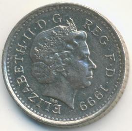 Engeland 5 Pence 1999 KM#988