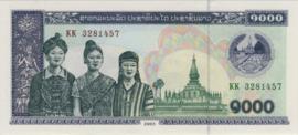 Laos P32A.b 1.000 Kip 1998-2003