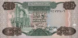 Libië P47 ¼ Dinar 1984 (No date)