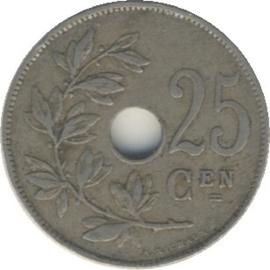 België KM69 25 Centimen 1910-1929