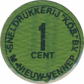PL712 KOS SERIE 1 t/m 4 cent ±1980
