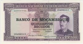 Moçambique P118.a 500 Escudos 1967 (No date)
