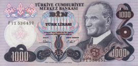 Turkije P191.e 1.000 Lira 1970