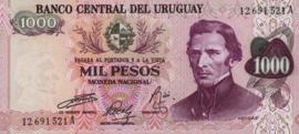 Uruguay P52.b 1.000 Pesos 1974 (No date)