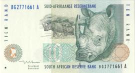 Zuid Afrika P123.b 10 Rand 1993-99 (No date)