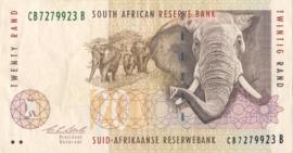 Zuid Afrika P124.a 20 Rand 1993-99 (No date)