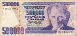 Turkije P212.b 500.000 Lira