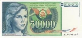 Joegoslavië P96 50.000 Dinara 1988