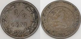 Nederland Sch.728 1/2 Cent 1886