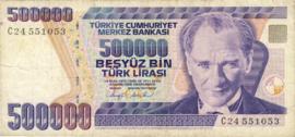Turkije P208 500.000 Lira 1970