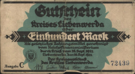 Liebenwerda 2720.5.b 100 Mark 1922