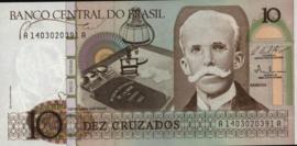 Brazilië  P209 10 Cruzados 1986-87 (No date)