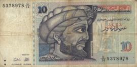 Tunesië P87 10 Dinars 1994