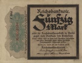 1.1.2.2 Eerste wereldoorlog (Darlehenkassenscheine) 1914 - 1918