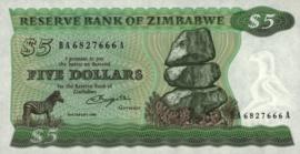 Zimbabwe P2.a 5 Dollars 1980
