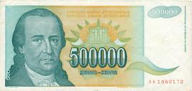 Joegoslavië P131 500.000 Dinara 1993