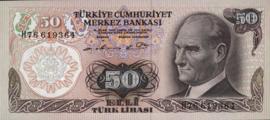 Turkije P188.a 50 Lira 1970-10-14